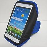 Galaxy Note ギャラクシーノート (2,3,Edge 5全共用)ケース SC-05D/02E/01F/01G アームバンドA型スポーツジャケット ブルー
