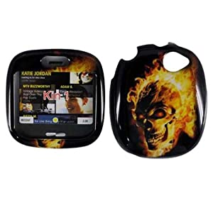 Microsoft Sharp Kin 1 Designer Fire Skull HARD PROTECTOR COVER CASE/SNAP ON PERFECT FIT