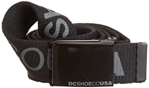 DC Shoes Facebook 5 - Cinturón reversible negro negro Talla:Einheitsgrösse