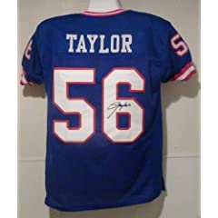 Lawrence Taylor Autographed New York Giants Blue Size XL Jersey (name only) by DenverAutographs