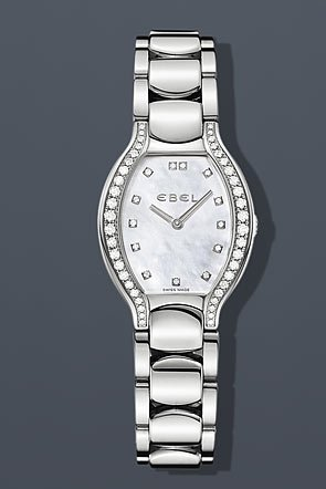 Ebel Beluga Tonneau Lady Diamond 26.5 mm Watch - Mother of Pearl Dial, Stainless Steel Bracelet 1215924