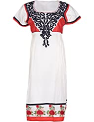 Elegant Cotton Women Kurta (32401siy, Off White, Free Size)