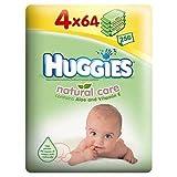 Huggies Natural Care Wipes 4 x 64 per pack