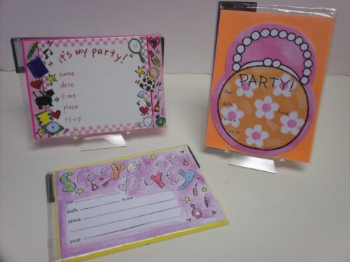 24pc Fab Girls Party Invitations - Cards & Envelopes/