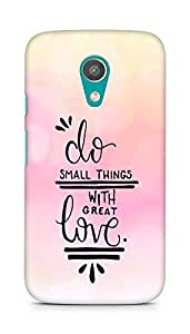 AMEZ do great things with love Back Cover For Motorola Moto G2