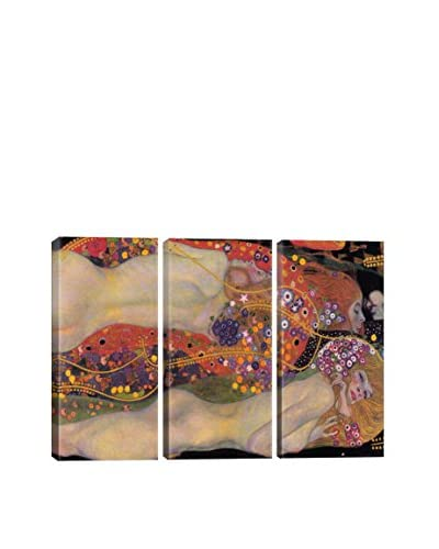 Gustav Klimt Water Serpents II 1907 3-Piece Canvas Print