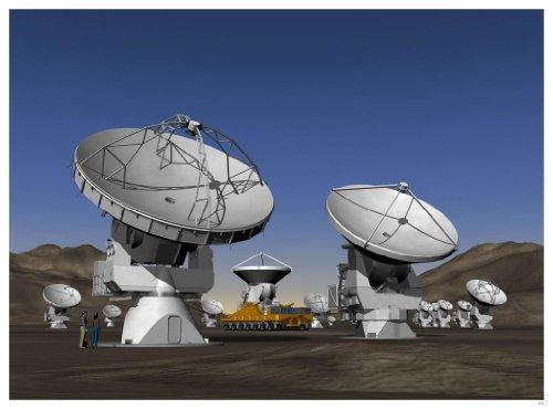 """Astronomy Poster - Eso - Alma_Still_A - Alma Antennas - 24""""X18"""""""
