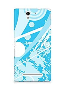 Amez designer printed 3d premium high quality back case cover for Sony Xperia C3 D2502 (Abstract 14)