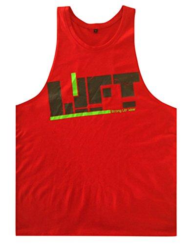 Gillbro Mens T-shirt Muscoli in allenamento bodybuilding Canotta, B, M