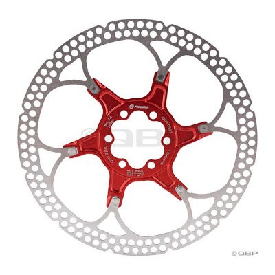 Image of Formula Disc Rotor Alloy 160mm 6 bolt Red (B007FTJ25I)