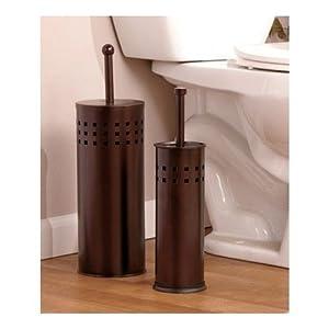toilet brush holder plunger set stainless steel or bronze set perfect cleaning. Black Bedroom Furniture Sets. Home Design Ideas