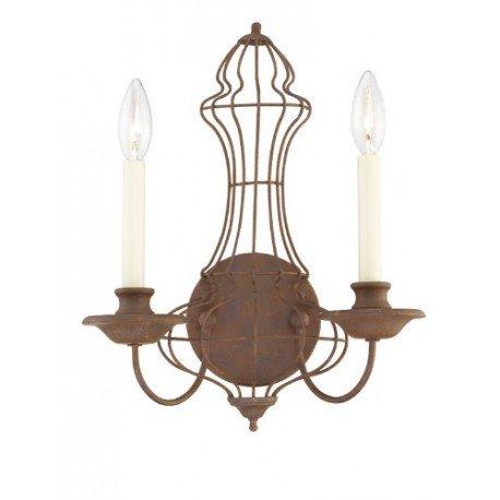 Quoizel QZ/LAILA2 Applique avec 2 Ampoules Bronze 15 x 30,5 x 38,1 cm