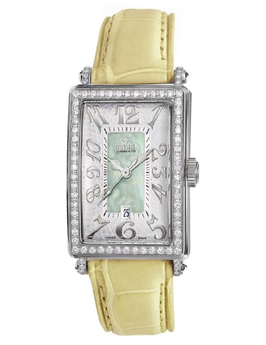Gevril Women's 7246NV.9 Green Mother-of-Pearl Genuine Alligator Strap Watch