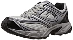 Sparx Mens Grey and Silver Running Shoes - 7 UK (SM-118)
