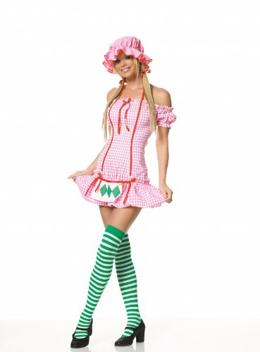 3PC. Strawberry girl costume