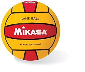 Mikasa Water Polo Game Ball (Women's, Red/Yellow)