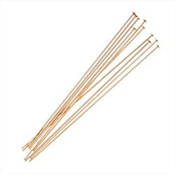 Beadaholique 10-Piece Filled Head Pins, 24-Gauge, 1-Inch, 14K Gold
