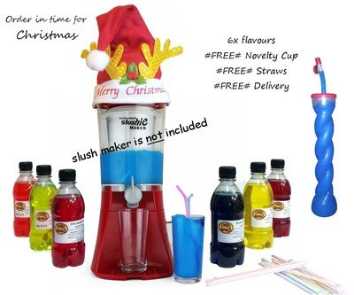 Christmas Special Slush Syrup with FREE Novelty Cup & Straws