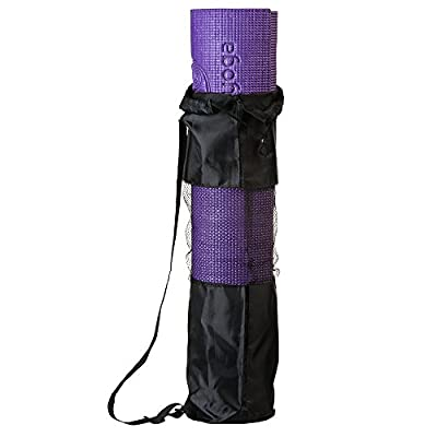 Jiva Non-Slip Yoga Mat With Free Carrying Strap and Bag ✮ 1/4 Inch Thick Memory Foam ✮ Best Mats for Stretches That Stick ✮ Eco-Friendly ✮ Easy for Travel ✮ 100% Money Back Guarantee