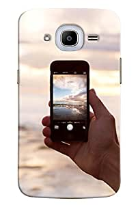 Omnam View Clicked On Iphone Printed Designer Back Cover Case For Samsung Galaxy J2 2016