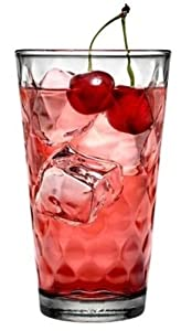 Anchor Hocking Glassware ARGYLE 4 Pack - 126oz / 473 ml Tea Glass Tumblers Glass Glasses Cups Whiskey Wine Hi ball Cups