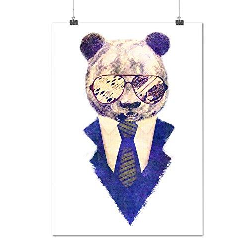 Businessman-Panda-Smart-Bear-MatteGlossy-Poster-A0-A1-A2-A3-A4-Wellcoda