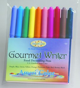 Gourmet Food Writer Edible Color Markers (10 Color Set) By Americolor
