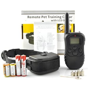 Remote Dog Pet Training Electric Training Collar With Remote Controller Shock & Vibration Vibrate Collar With Lcd Display & Beep 1 To 1