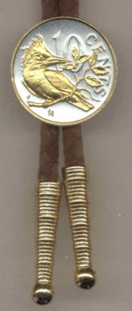 Two Tone 10 cent Kingfisher Coin Bolo Tie- BT-145