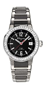 Salvatore Ferragamo Men's F54MBA9209 S789 F-80 Automatic Luminous Black Diamond Watch