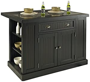 Home Styles 5033 94 Nantucket Kitchen Island Distressed Black Finish Kitchen Dining
