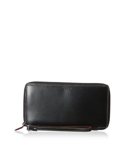 LODIS Women's Audrey Tara Travel Wallet, Black/Red