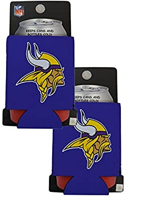 Official National Football League Fan Shop Authentic 2-Pack NFL Koozie 12 Oz Can Cooler (Minnesota Vikings)