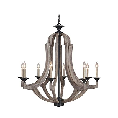Jeremiah Lighting 35128 Winton Single Tier 8 Light Candle Style Chandelier - 36,