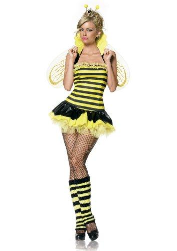 Leg Avenue Bienen Kostüm 4-teilig, 1 Stück