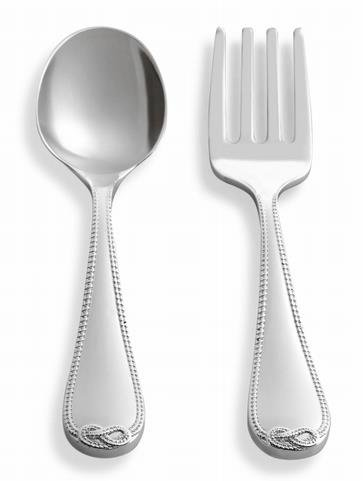 Vera Wang by Wedgwood - Placcato In Argento Infinito Bambino 2 pezzi Set Posate
