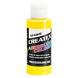 2 oz. Bottle of Createx Opaque Yellow #5204 CREATEX AIRBRUSH COLORS Hobby Craft Art PAINT
