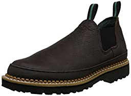 Georgia Giant Men\'s Romeo Slip-On Work Shoe,Brown,10.5 M