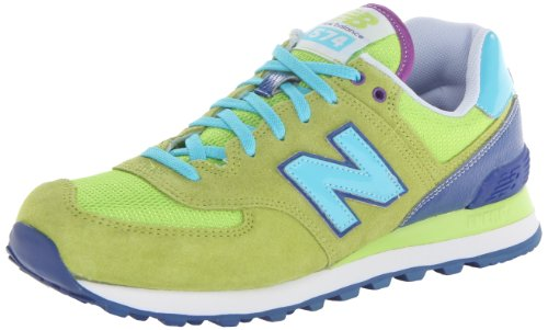 New Balance Women'S Wl574 Carnival Running Shoe,Green,9 B Us