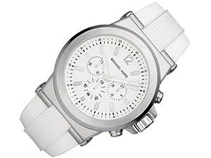 Michael Kors - Reloj de pulsera mujer, plástico, color blanco