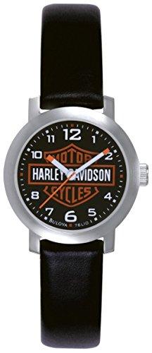 Harley Davidson - 76L10 - Montre Femme - Quartz Analogique - Bracelet Cuir Noir