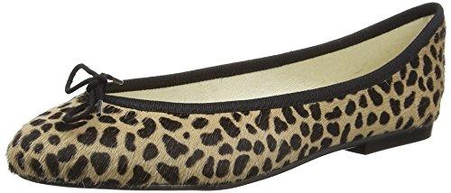 French Sole Inida Leopard - Ballerine Donna, Beige (Leopard), 39.5 EU