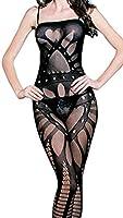 Demarkt Damen Transparent Sexy Netz Catsuit Body Stocking Reizwäsche Dessous