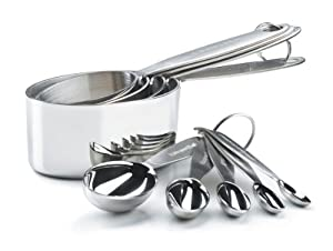 Cuisipro Stainless Steel Measuring Cup and Spoon Set