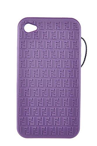 Fendi cover case custodia iphone 4 4s in gomma morbida viola