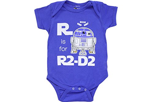 Star Wars R Is For R2D2 Snapsuit Infant Onesie Baby Romper (Infant 18-24 Months)