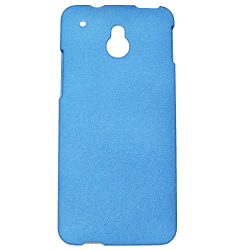 Heartly QuickSand Matte Finish Hybrid Flip Thin Hard Bumper Back Case Cover For HTC One M4 Mini - Mobile Blue
