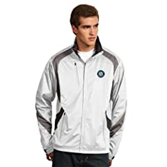 Seattle Mariners Tempest Jacket (White) by Antigua
