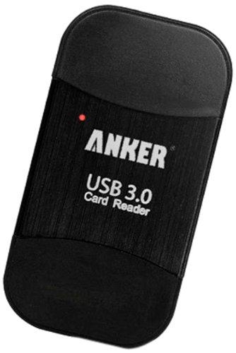 Anker Uspeed USB3.0 8-in-1カードリーダー SDXC、SDHC、SD、MMC、RS-MMC、Micro SDXC、 Micro SD、Micro SDHC カードに対応、UHS-Iカードもサポート【18ヶ月保証】
