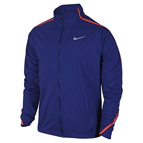 Nike-Impossibly-Light-Mens-Running-Jacket-Deep-Royal-BlueBright-Crimson-Large